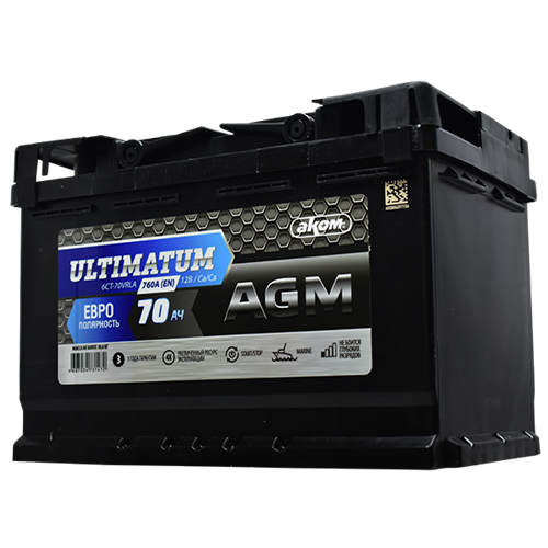 ULTIMATUM 70Ah D+ AGM start-stop