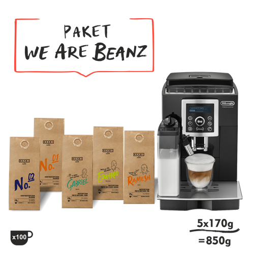 "5. ""We are BeanZ"" 850g + DeLonghi ECAM 23460B"