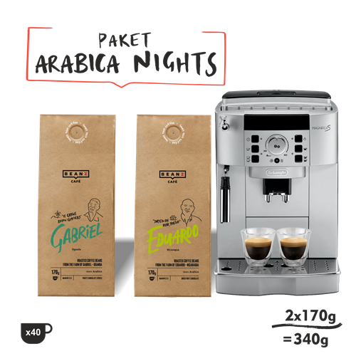 "1. ""Arabica Nights"" 340g + DeLonghi Magnifica S"