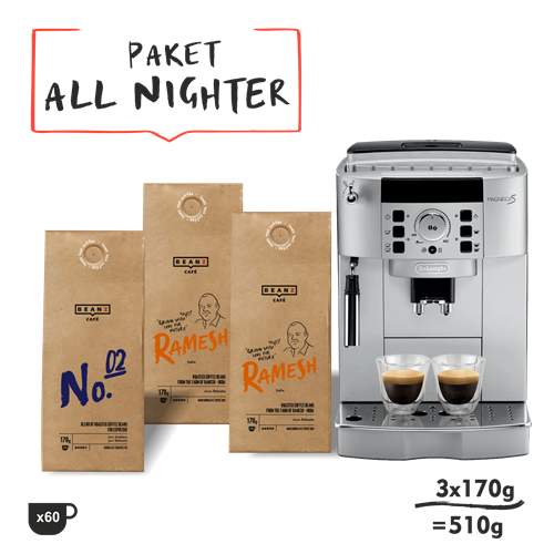 510g All-Nighter + DeLonghi Magnifica S