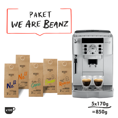 "5. ""We are BeanZ""  850g + DeLonghi Magnifica S"