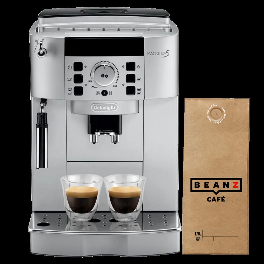 Napravi svoj paket uz DeLonghi Magnifica S black + 9x 170g BeanZ kafe