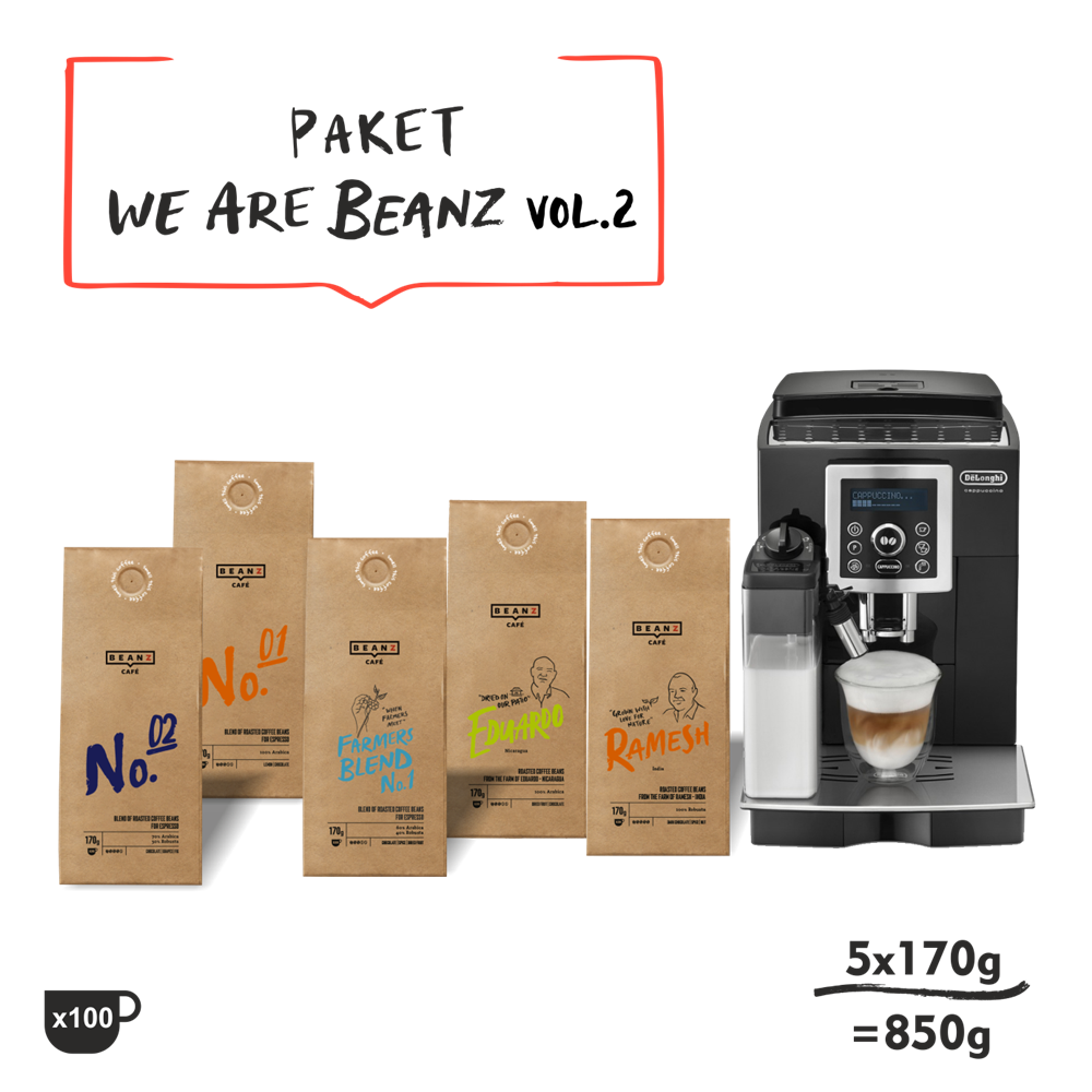 850g We are BeanZ vol.2 + DeLonghi ECAM 23460B
