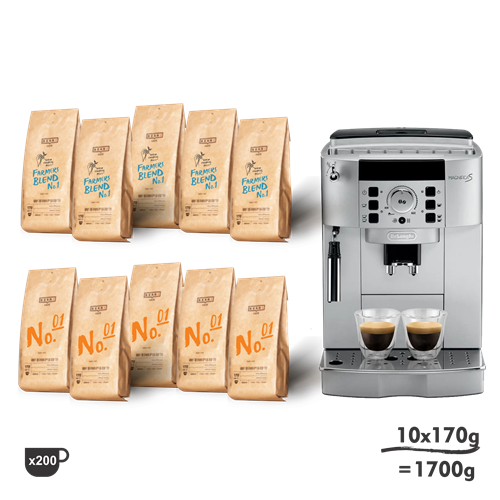 1700g The Office + DeLonghi Magnifica S