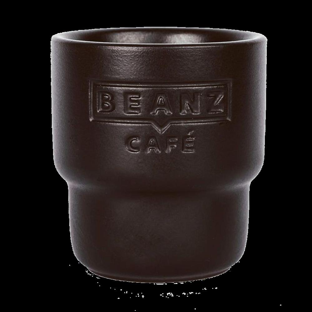 Black Roasted BeanZ - 2x espresso cup