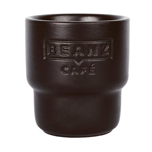 Black Roasted BeanZ - 2x espresso cup