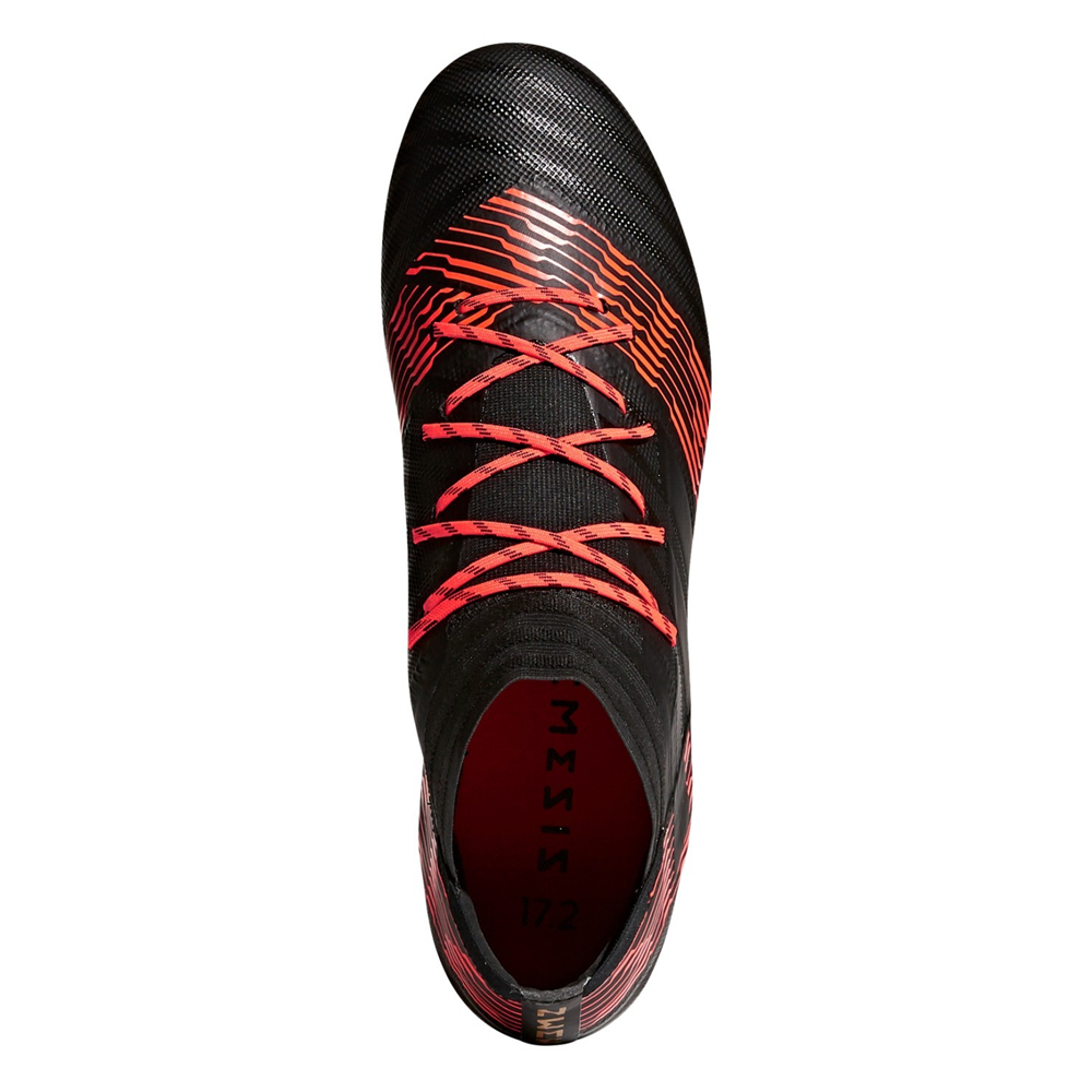ADIDAS NEMEZIZ 17.2 FG - Core Black/Solar Red