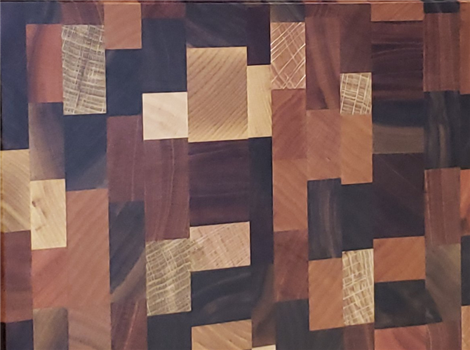 Mozaik od 4 vrste drveta