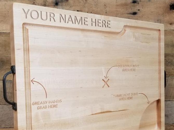 Personalizovana daska od hrastovog drveta