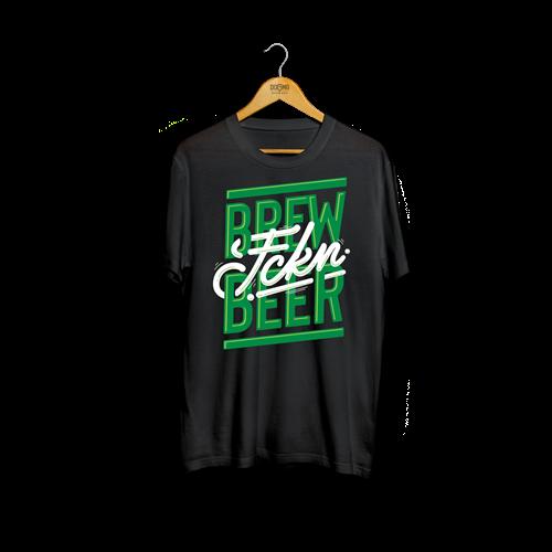 Majica BREW FCKN BEER - crna