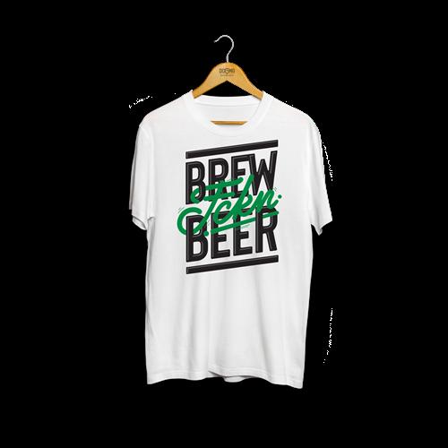 Majica BREW FCKN BEER - bela