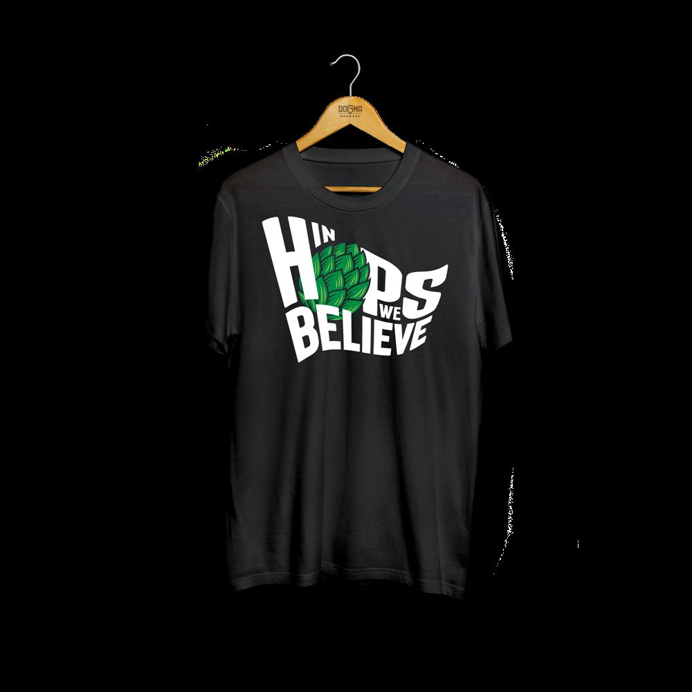 Majica IN HOPS WE BELIEVE - crna