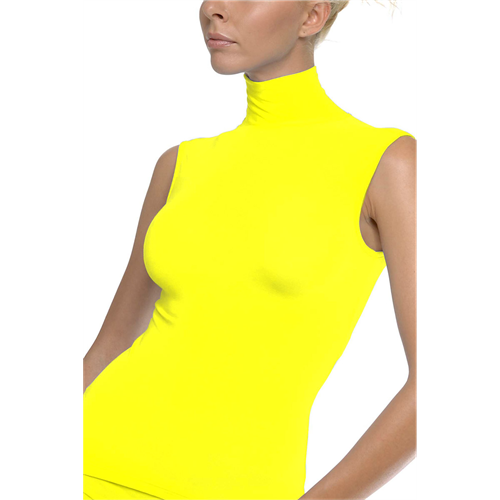 Rolka bez rukava YELLOW Turtle Neck