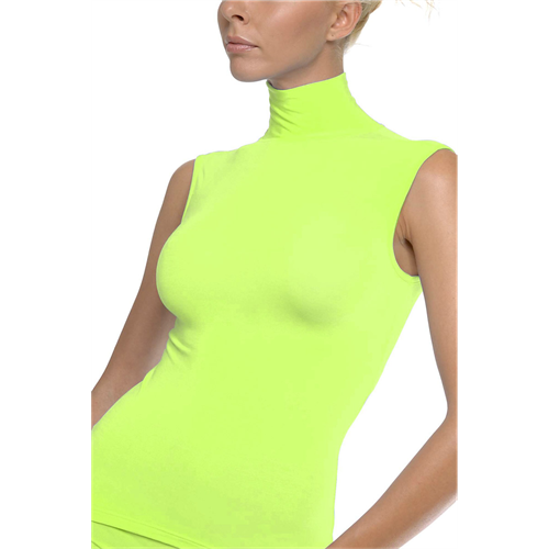 Rolka bez rukava LIME GREEN turtle Neck