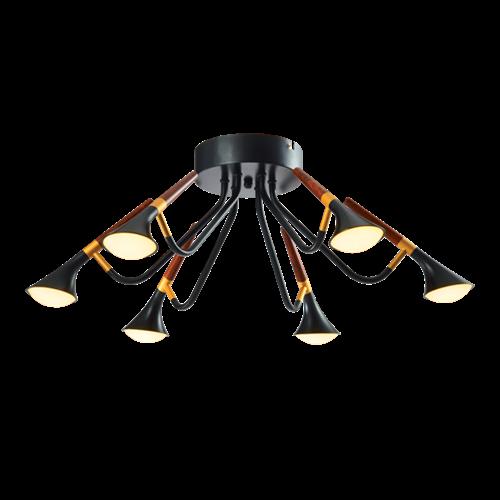 DUNCAN LED LUSTER 30W 3000K MAT CRNI/DRVO
