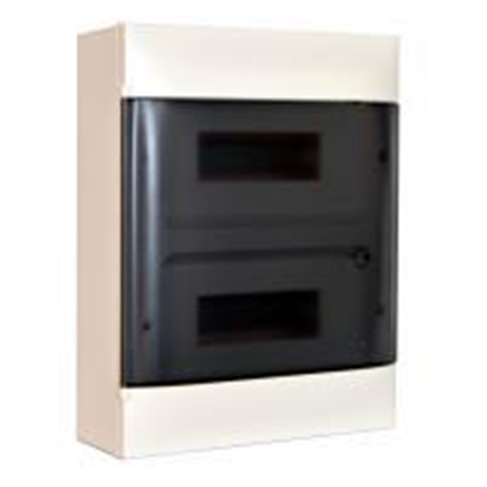 Practibox S: Stanska nadgradna tabla, 2x12M, providna dim vrata