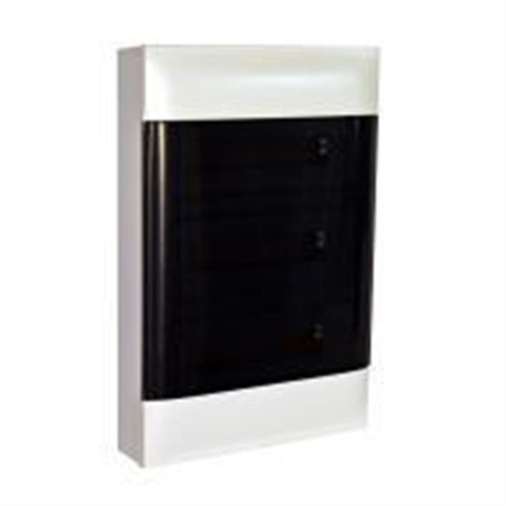 Practibox S: Stanska nadgradna tabla, 3x12M, providna dim vrata