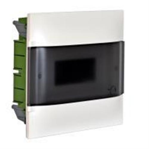 Practibox S: Stanska ugradna tabla, pod malter, 12M, providna dim vrata