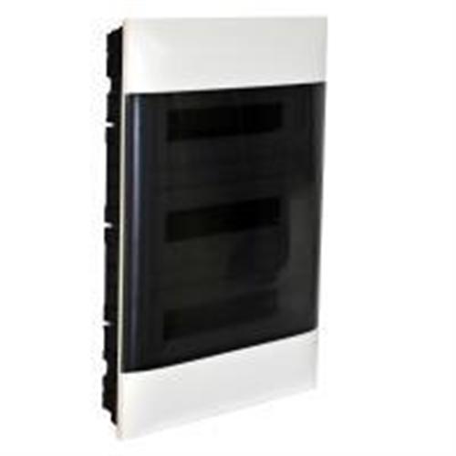 Practibox S: Stanska ugradna tabla, pod malter, 3x18M, providna dim vrata