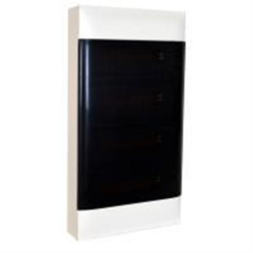 Practibox S: Stanska nadgradna tabla, 4x12M, providna dim vrata