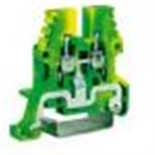 Redna klema-stezaljka 4 mm2 TEO.4 žuto-zelena Cabur
