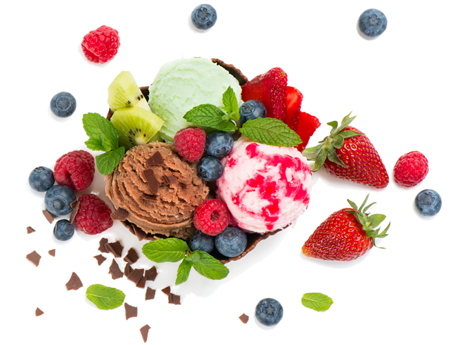Voće i sladoled
