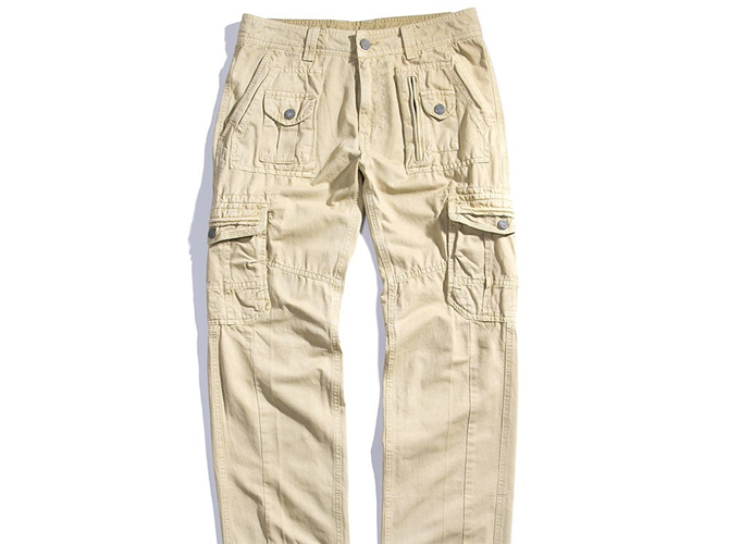 Slim Fit Straight Long Trousers