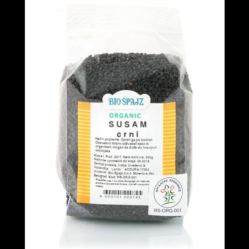 Crni susam organic 200 gr Bio Špajz