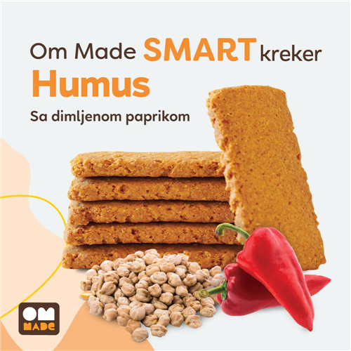 Smart kreker humus i dimljena paprika 100 gr rinfuz