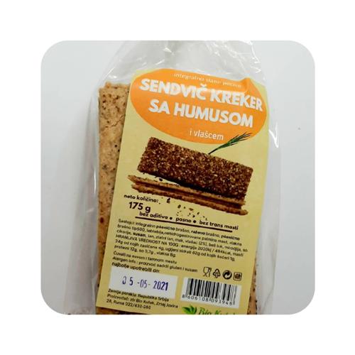 Sendvič kreker sa humusom i vlašcem 175 gr