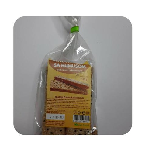 Sendvić kreker sa humusom i crnim lukom 175 gr
