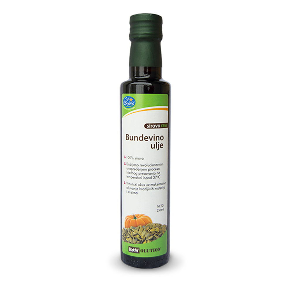 Sirovo bundevino ulje hladno ceđeno 250 ml