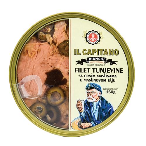 Fileti tune sa maslinam u maslinovom ulju 160 gr