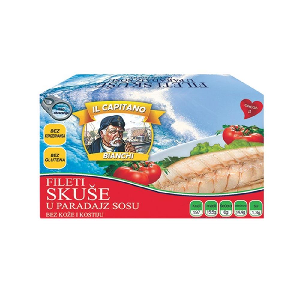 Il Capitano fileti skuše u paradajz sosu 115 gr