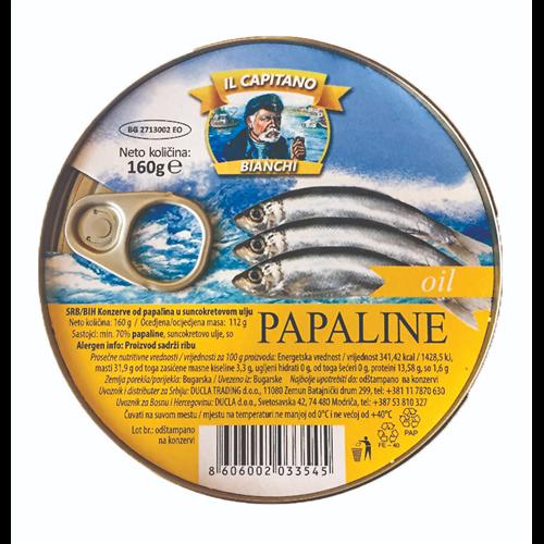 Il Capitano papaline u ulju 160 gr