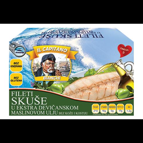 Il Capitano skuša fileti u maslinovom ulju 115 gr