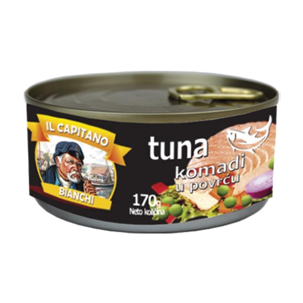 Il Capitano tuna komadi sa povrćem 170gr