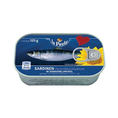 La Perla sardina u biljnom ulju 125g