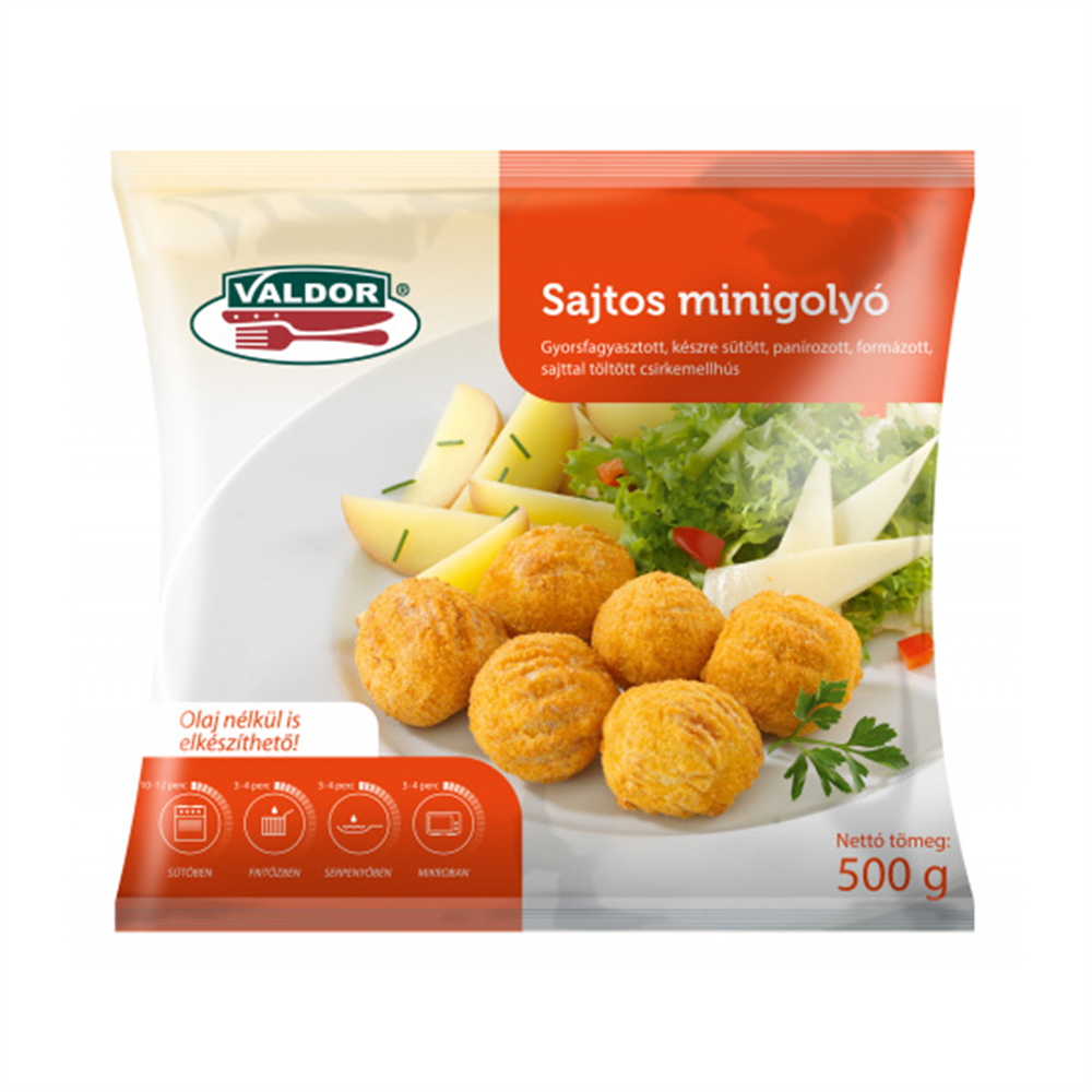 Mini pileće kuglice punjene sirom 500 gr