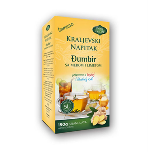Kraljevski napitak đumbir, med, limeta 150 gr