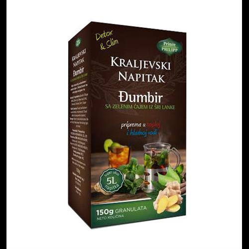 Kraljevski napitak detox&slim sa zelenim čajem 150 gr