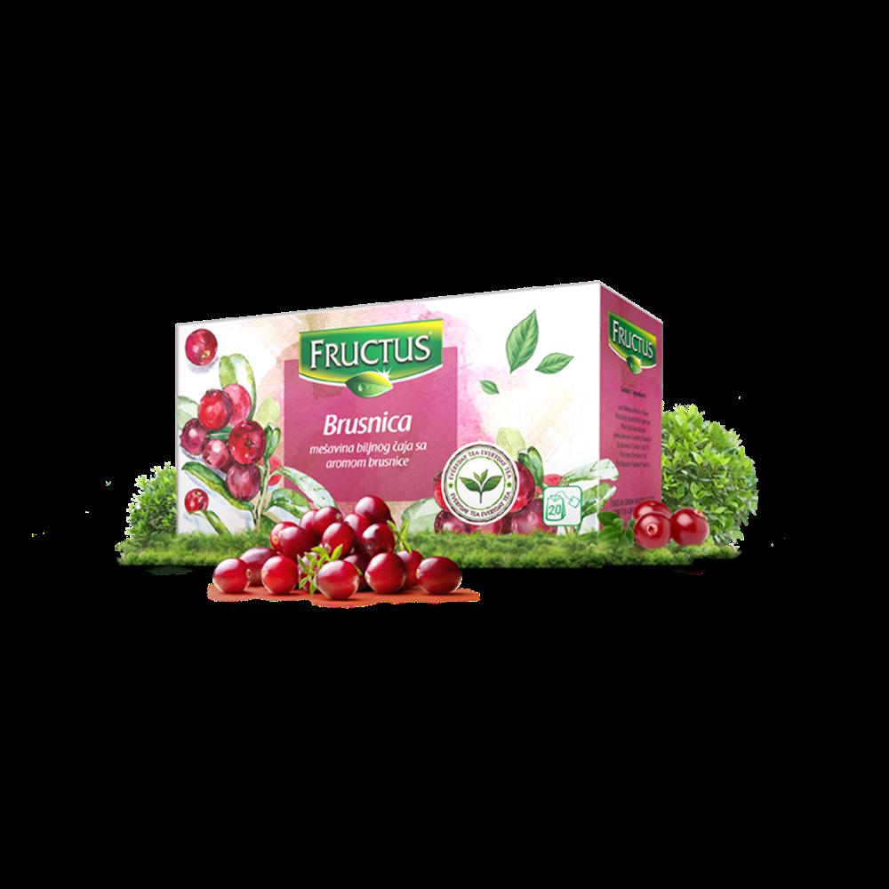Brusnica čaj Fructus 44 gr