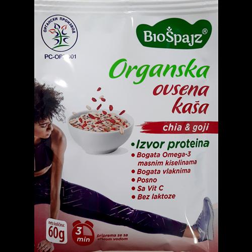 Ovsena kaša chia&goji organic 60 gr
