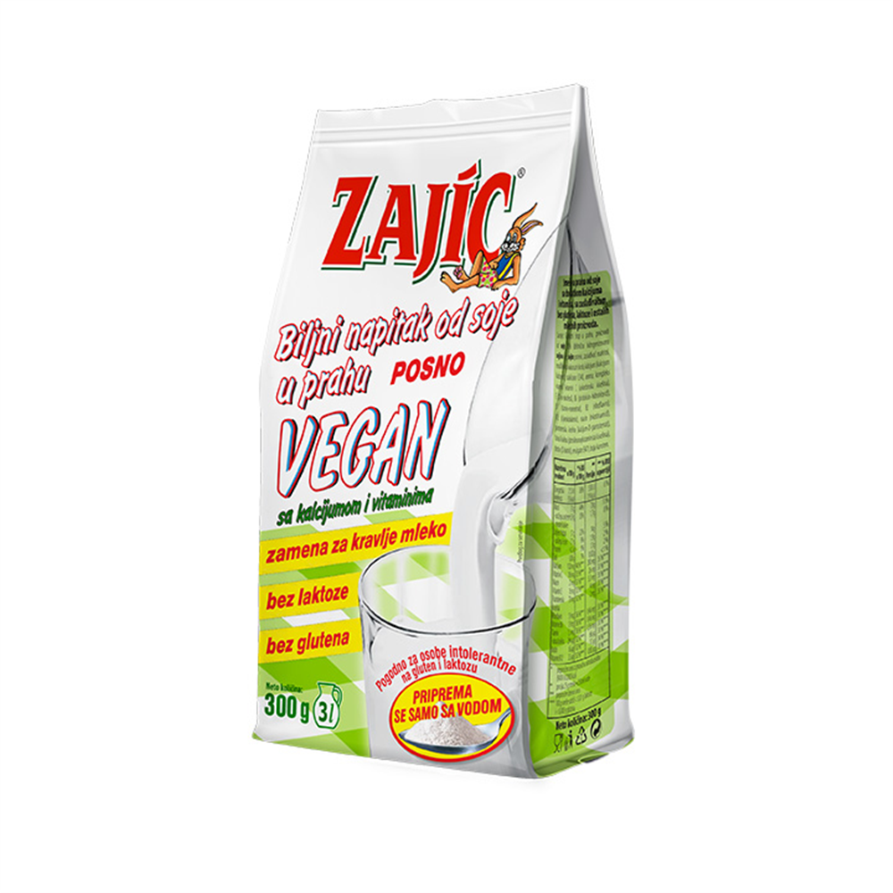 Mleko u prahu soja Zajic 300 gr vegan