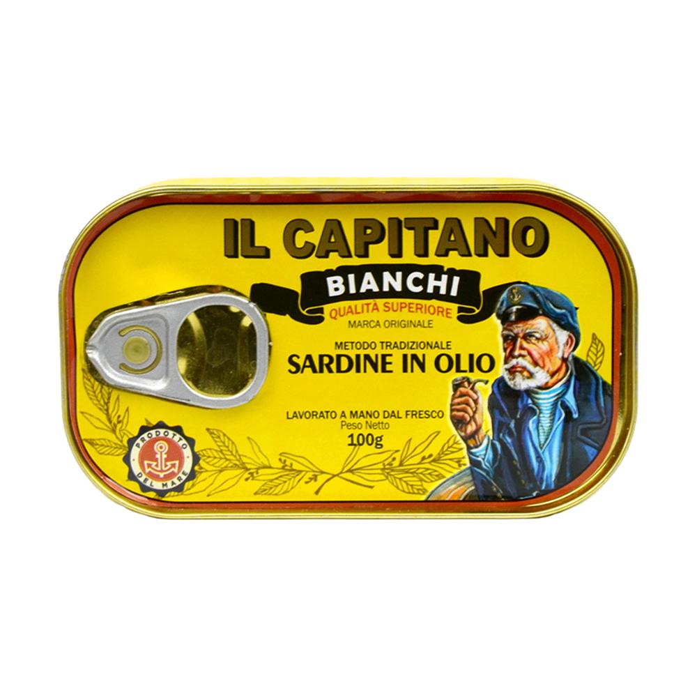 Sardina Il Capitano retro 100 gr