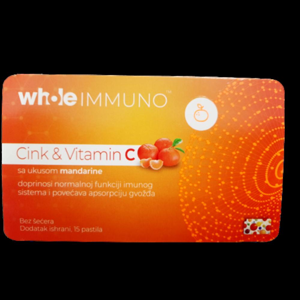 Pastile cink & vitamin C bez šećera 15 kom