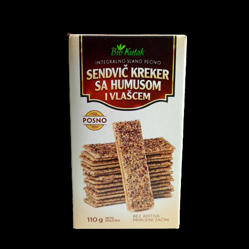 Sendvič kreker sa humusom i vlašcem 110 gr