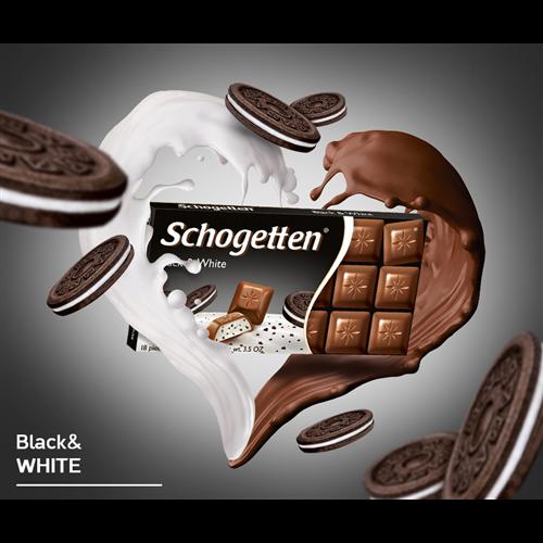 Čokolada black&white Schogetten 100 gr