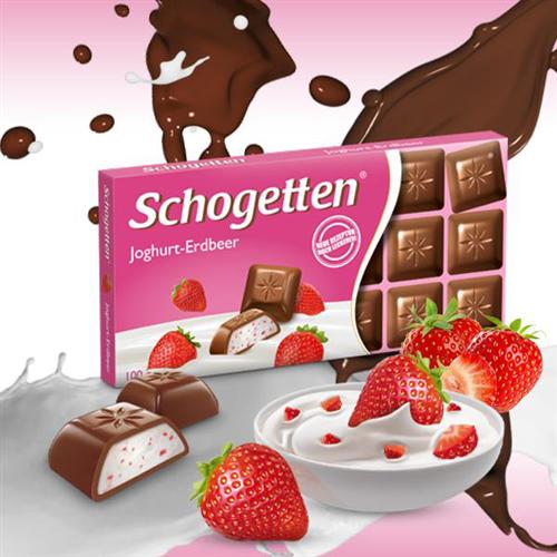 Mlečna čokolada jagoda-jogurt Schogetten 100 gr