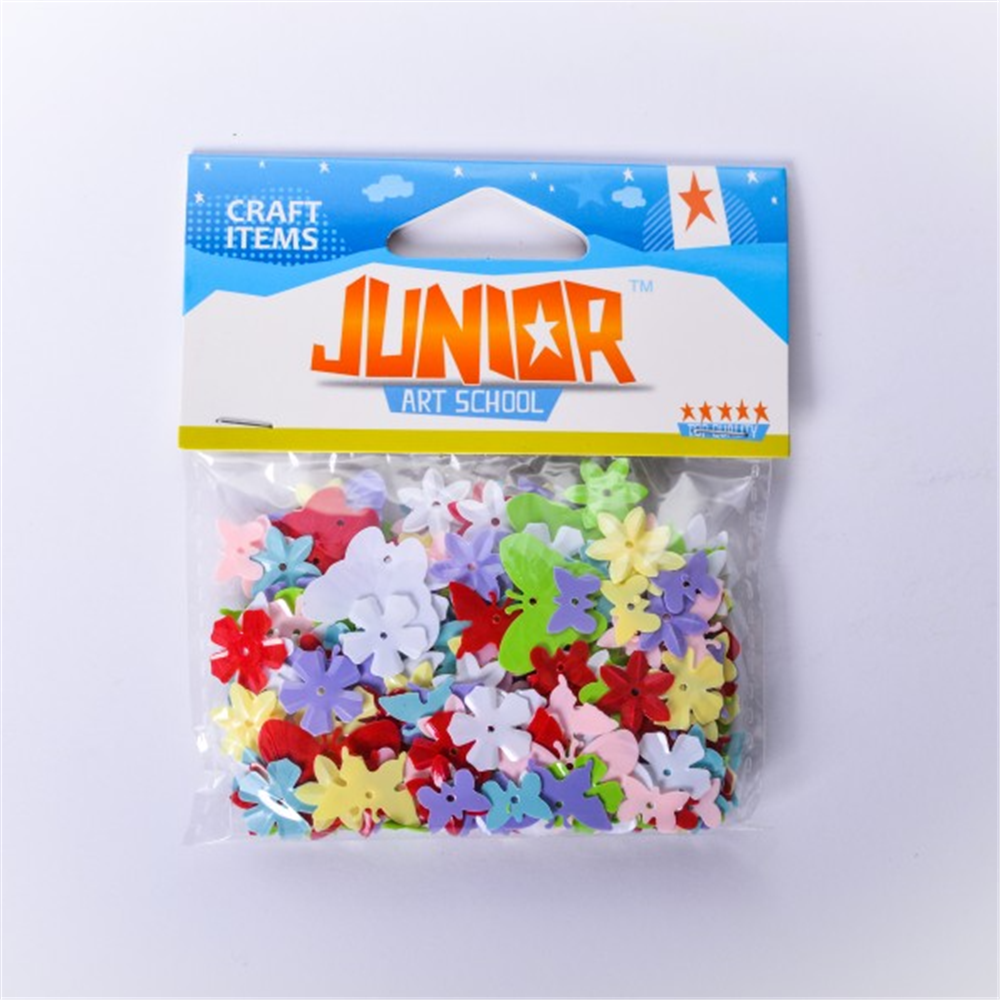 Konfete leptirići i cvetići mix JUNIOR Crafty